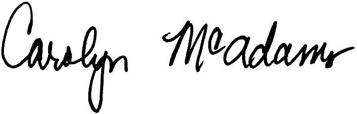 Carolyn McAdams Signature